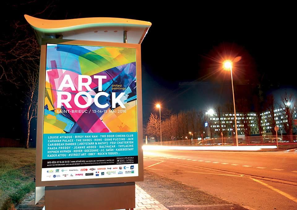 Affiche abribus d'Art Rock 2016