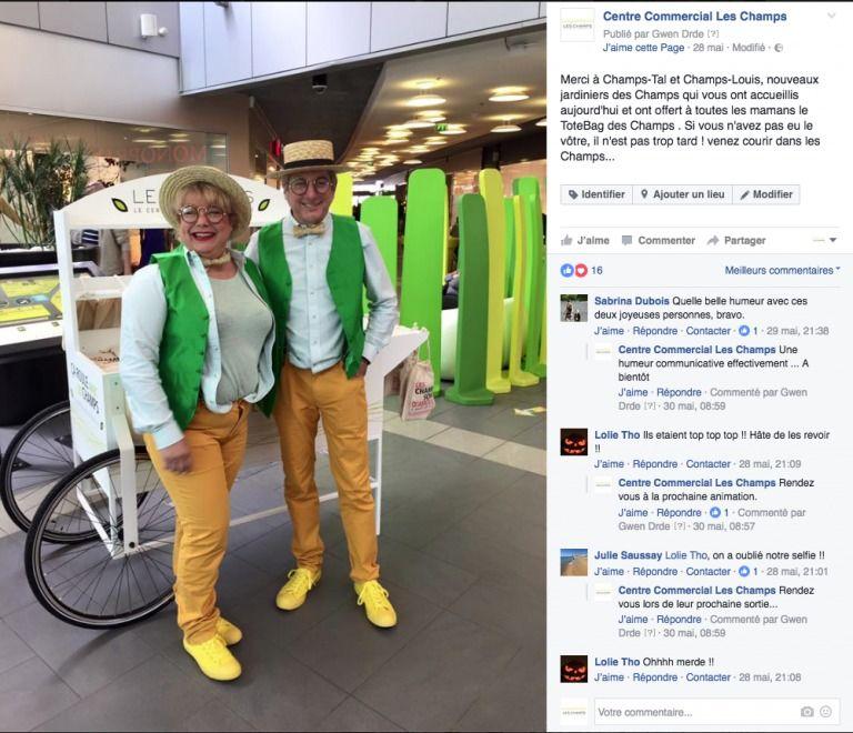 Post Facebook de la page Les Champs