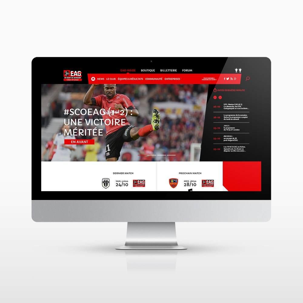 Interface du site internet playeag.com