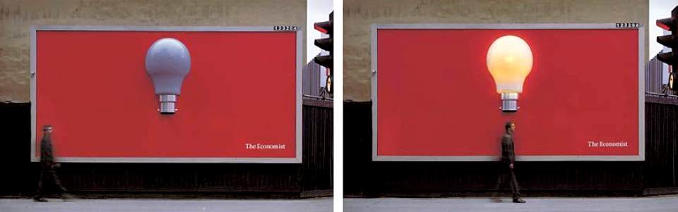 Action de Street Marketing - The Economist