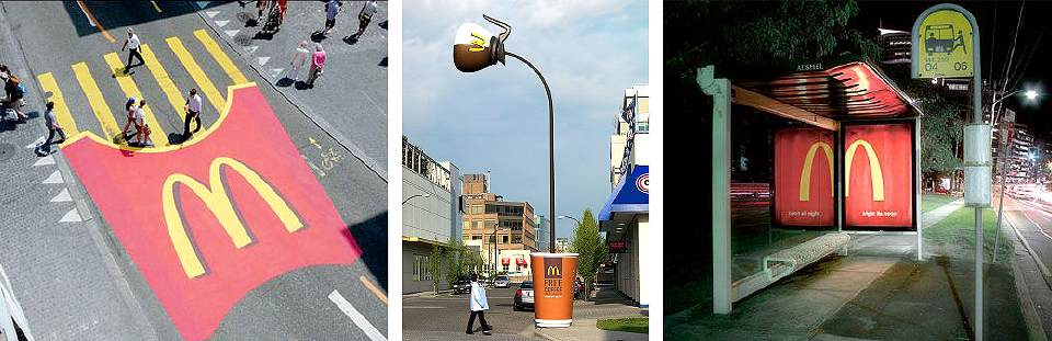 Actions de Street Marketing - Mc Donald's