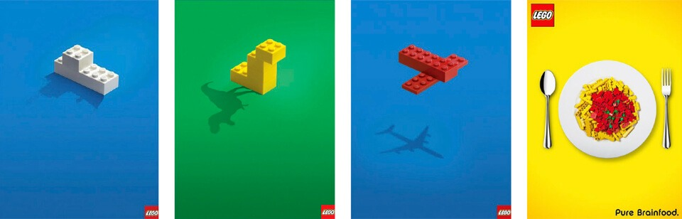 Publicité par l'objet de la marque Lego